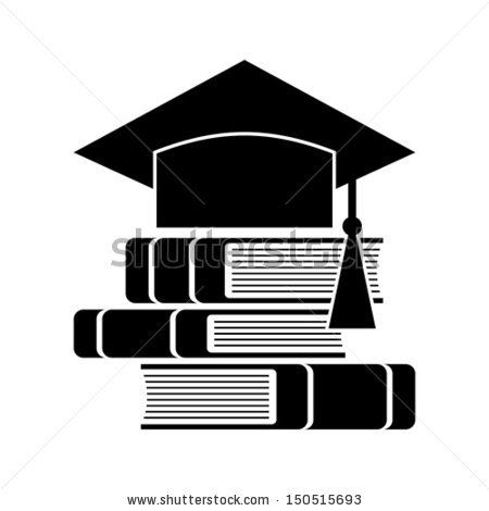 Celebrating Graduating Hat And Books Education Symbol Vector