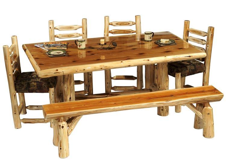 Rustic Cedar Log Dining Table ~ DRT01 ~ Timbercreek Dining Room .