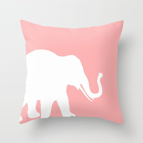 Elephant Throw Pillow Elephant Decor Pillow by HLBhomedesigns
