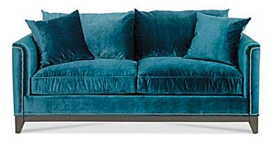 teal velvet sofa love it color fort pinterest