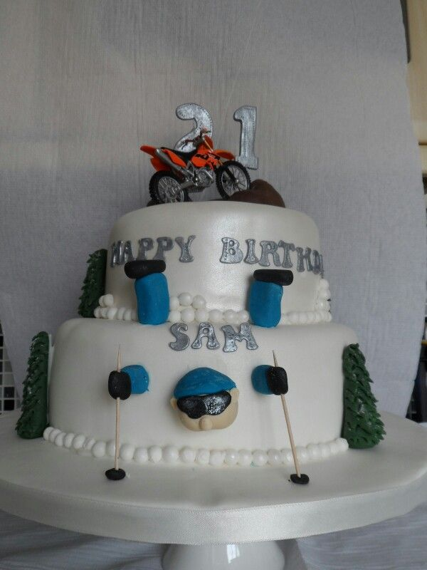 Front Of Skiing Rock Climbing Motor Cross Cke Cake Desserts Food
