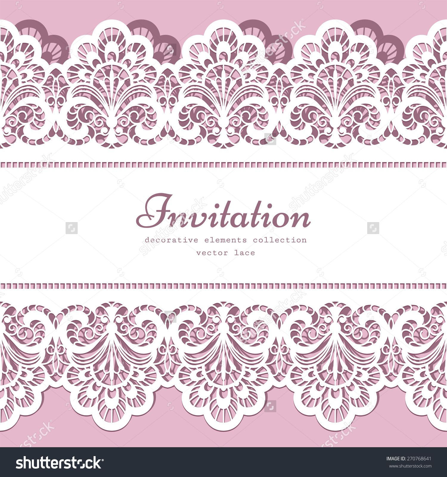 Vector Lace Background With Cutout Lacy Border Ornament Elegant