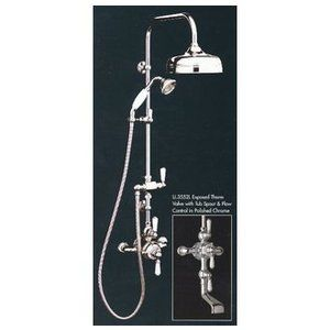 Rohl, Shower Systems, Rohl U Thermostatic Valve With Tub Spout Handspray  And Showerhead From The Perrin Rowe Series