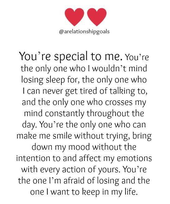 Youre Special To Me Quotes Love Quotes Love Words Boyfriend
