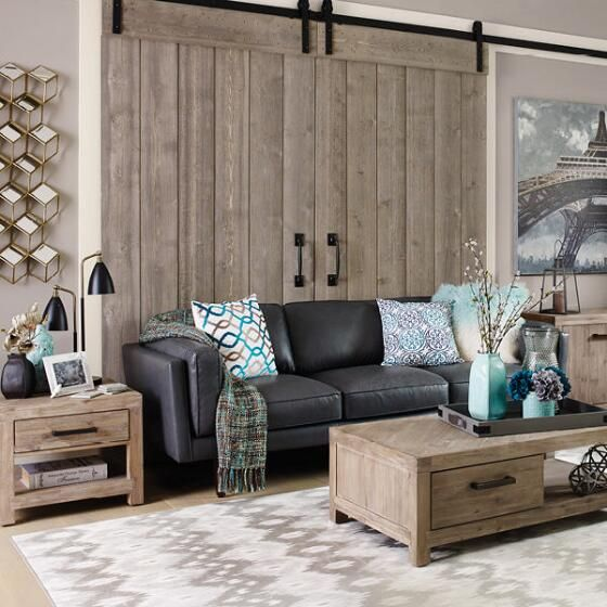 Living room diego leather sofa ox grey urban barn