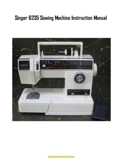 singer 6235 sewing machine instruction manual pinterest free rh pinterest co uk Singer Sewing Machine Service Manuals Wind Bobbin Singer Model 6235