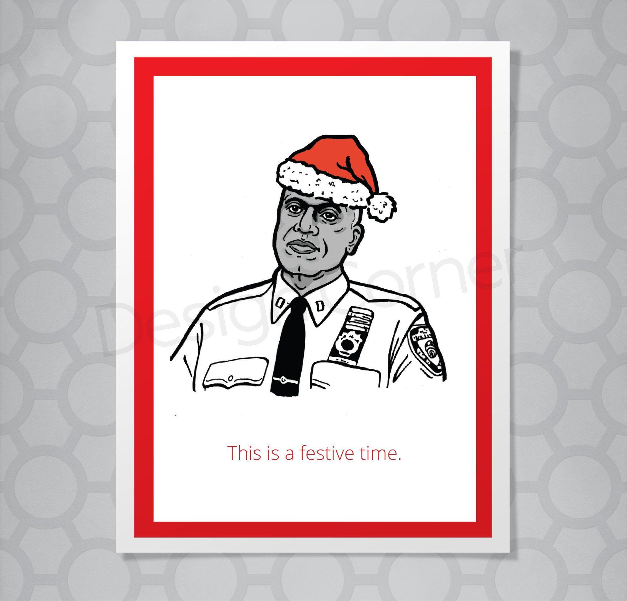 Brooklyn Nine Nine Christmas 2020 Brooklyn Nine Nine Captain Holt Festive Funny Illustrated   Etsy