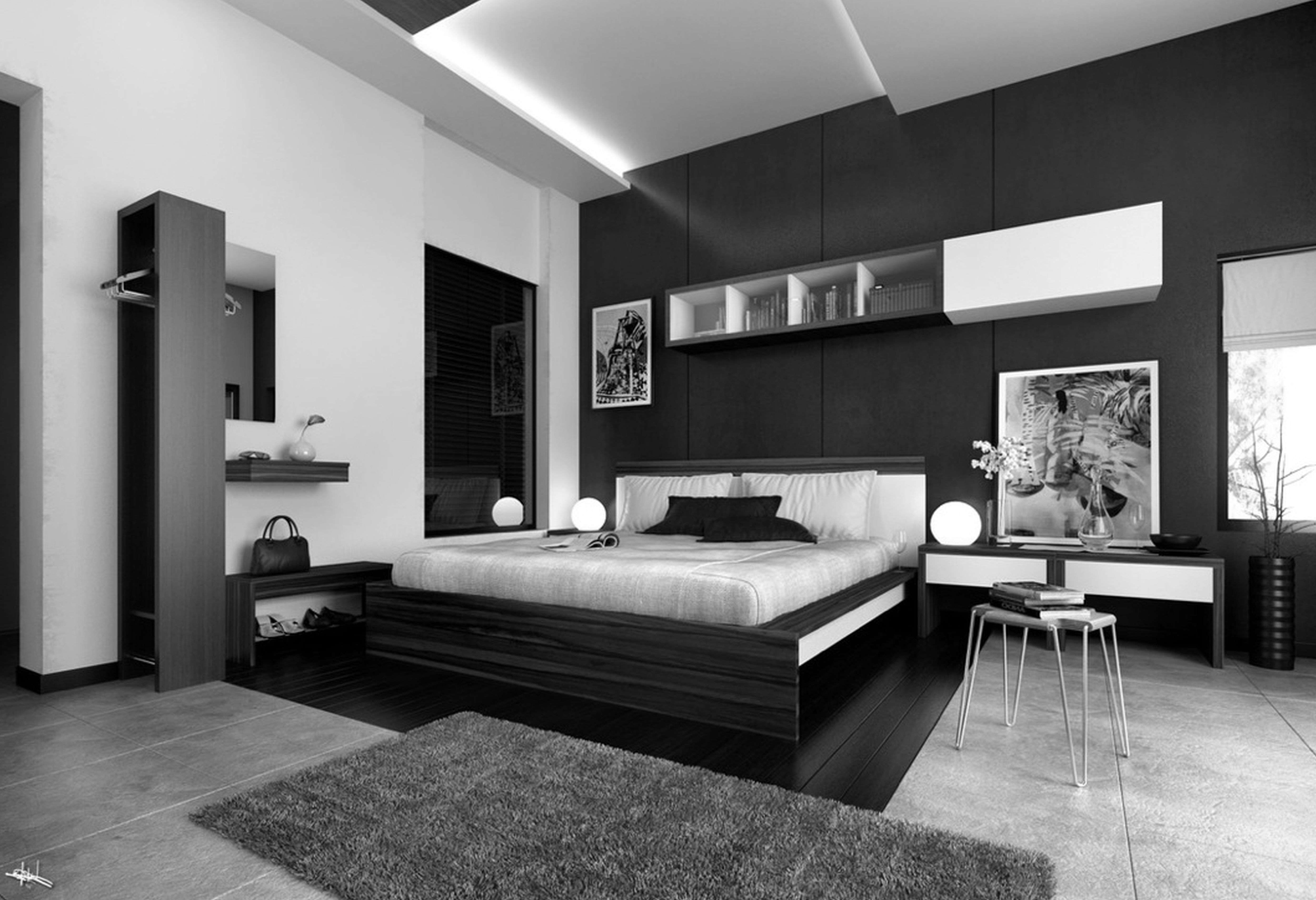 Stunning Master Bedroom Ideas With Excellent Black Master Beds As Well As White Wall Painted In Modern Bedroom Furniture Bedroom Interior Modern Bedroom Design