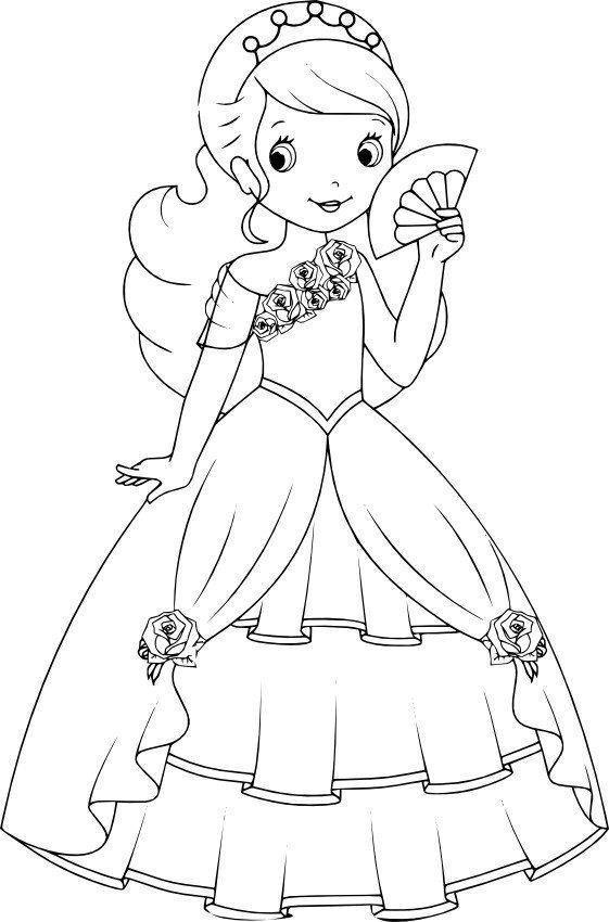 Princessa S Veerom Barbie Drawing Princess Coloring Pages Disney Princess Coloring Pages