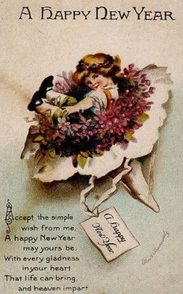 vintage new years images public domain condition free