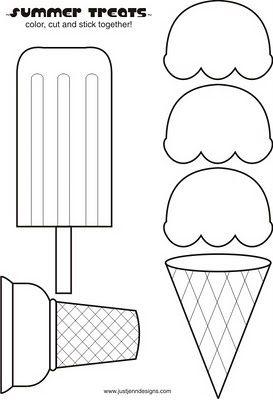 Ice Cream Libros De Tela Manualidades Preescolar Patrones