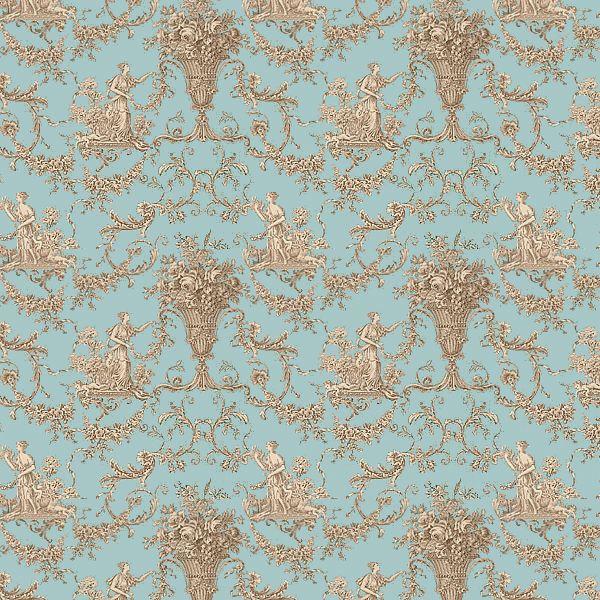 papier peint toiles de jouy bleu biltmore thibaut au. Black Bedroom Furniture Sets. Home Design Ideas