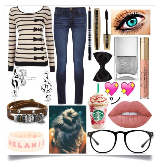 """""""=)"""" by fluzzy-puffball on Polyvore featuring DL1961 Premium Denim, Wallis, BillyTheTree, Bling Jewelry, Nails Inc., Lord & Berry, L'Oréal Paris, New Look, Linda Farrow and Lime Crime"""