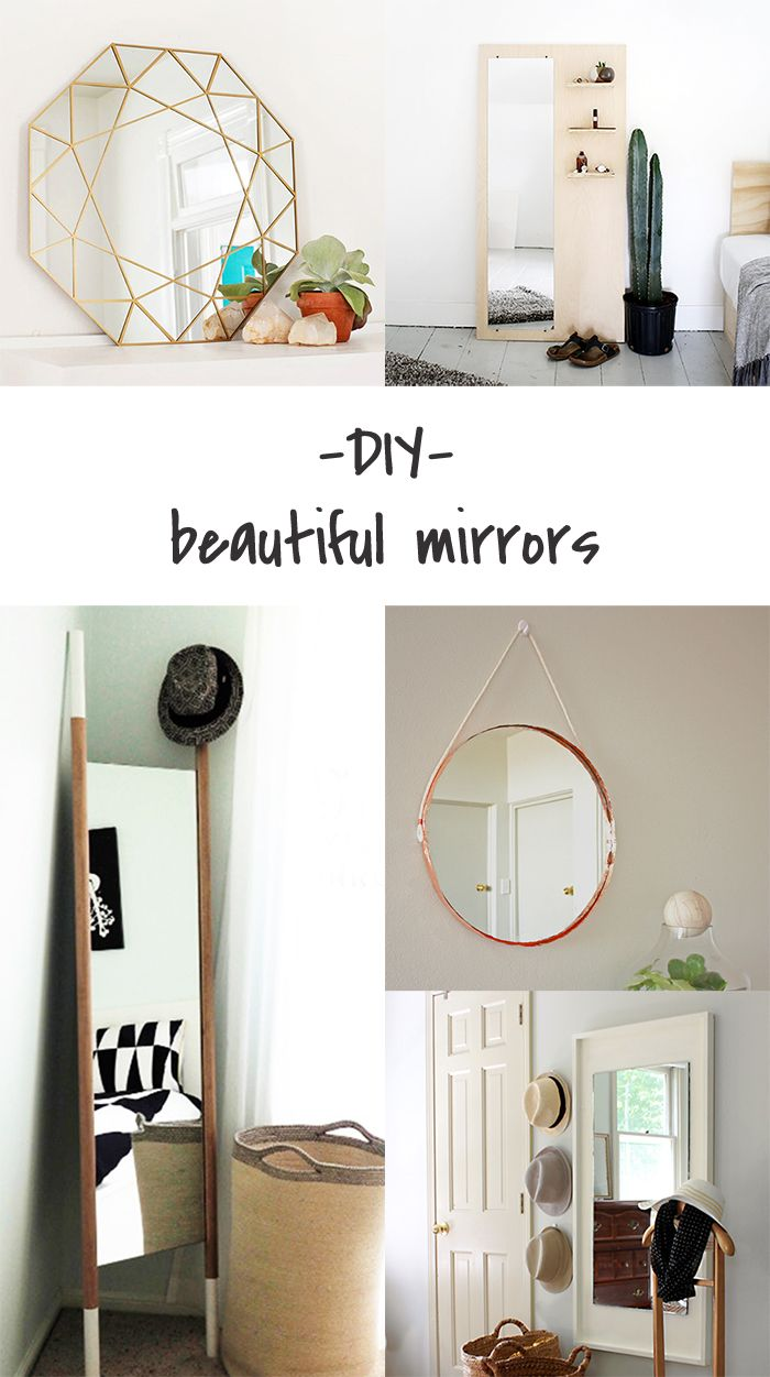 5 DIY to try # Mirrors | Craft, Blog and DIY ideas
