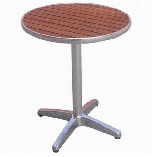New Products Aluminum Outdoor Furniture Round Bistro Table With Poly Wood  Table Top Http: