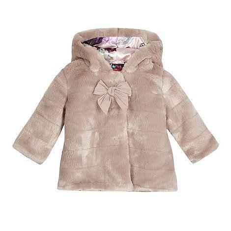 4cdd79e78 Baker by Ted Baker Baby girls  pink fur coat