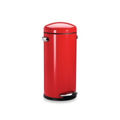 Best Buy Simplehuman® 30 Liter Red Retro Trash Step Trash Can 400 x 300