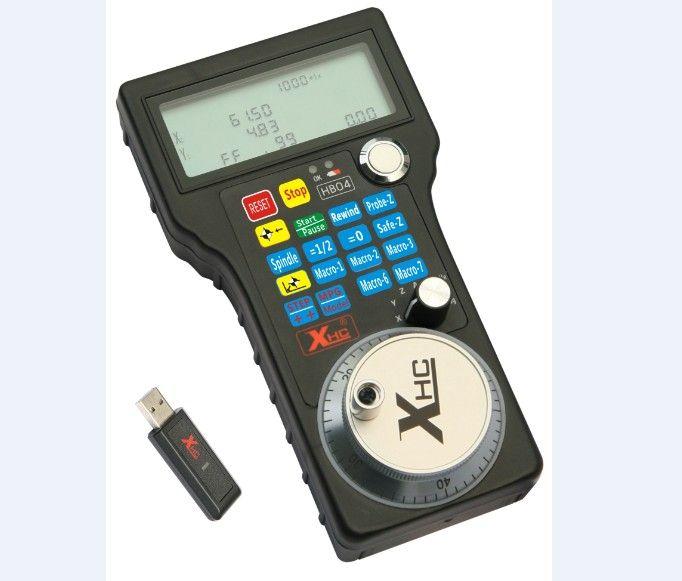 【DE】4 Axis Mach3 Wireless Pendant Handwheel MPG CNC Lathe Machine USB Controller