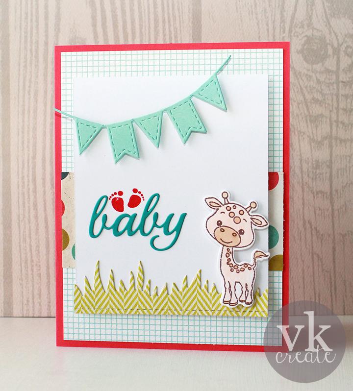 VK Create: MCT 44th Edition Sneak Peek: Baby Giraffe Card