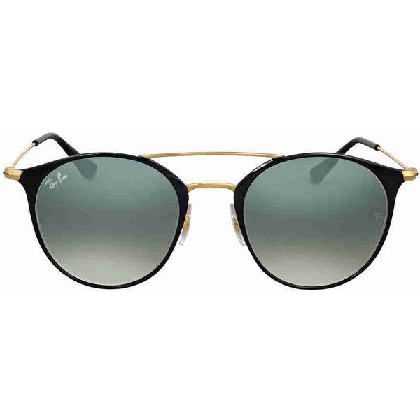 Ray Ban Grey Gradient Round Sunglasses (130 AUD) ❤ liked on Polyvore  featuring jewelry and steel jewelry a94aba4b1eab