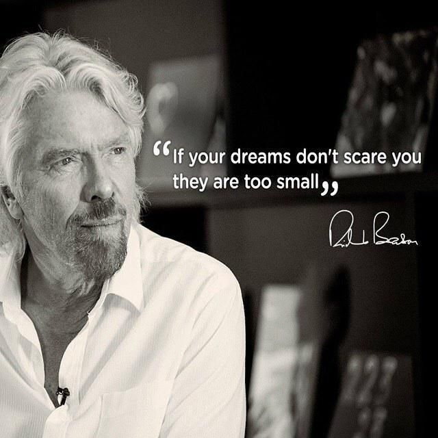 If Your Dreams Don T Scare You They Are Too Small Richard Branson Quote Leadership Ht W Richard Branson Quotes Richard Branson Best Motivational Quotes