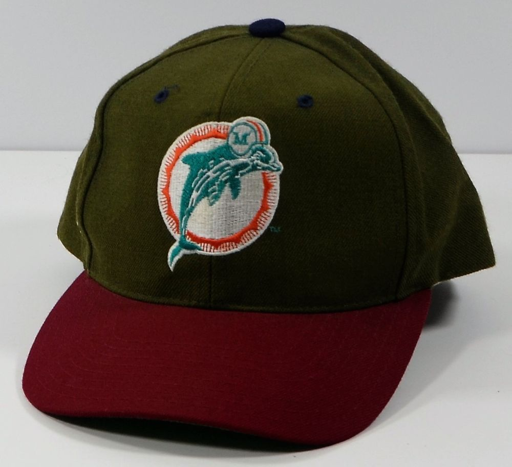 e1cf2200 ... closeout vintage miami dolphins nfl wool snapback hat florida  americanneedle baseballcap a7263 3a2f9