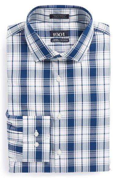 Non-Iron Plaid Dress Shirt @nordstrom $25