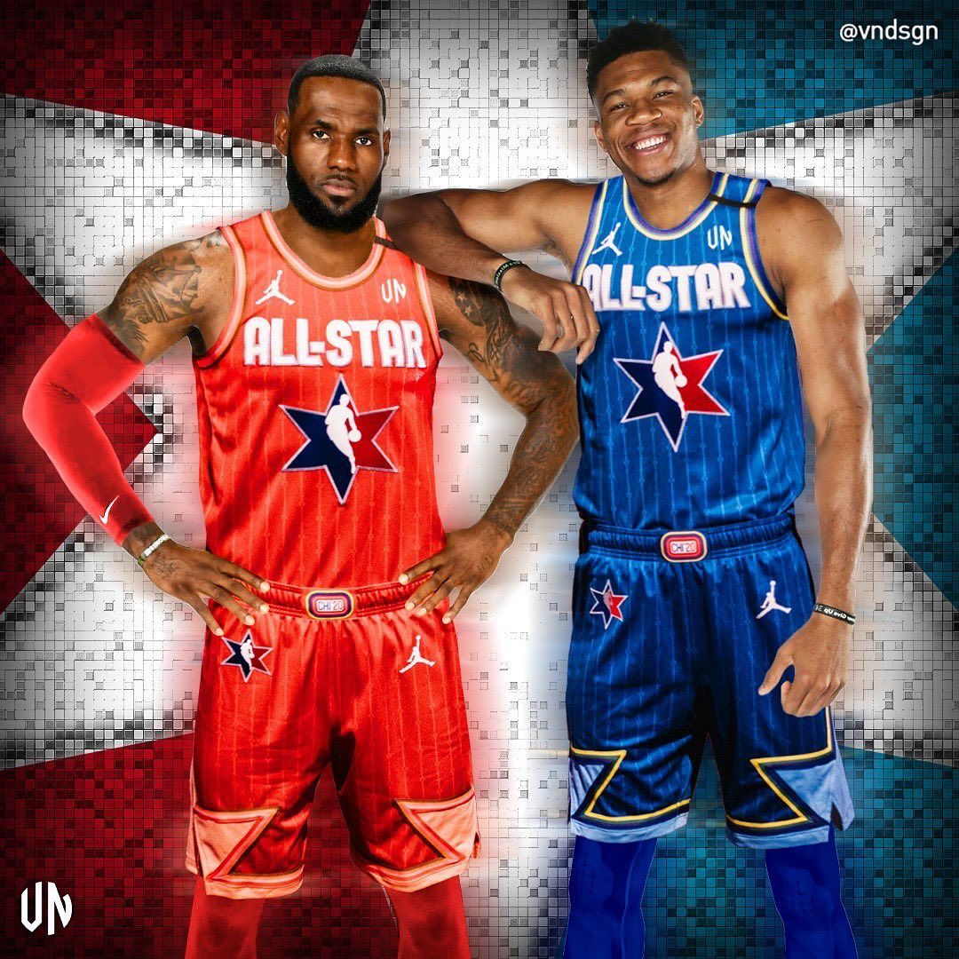 Basketball Forever On Instagram Lebron Giannis Rocking The New All Star Threads Vndsgn In 2020 Best Nba Players All Nba Players Basketball Players Nba