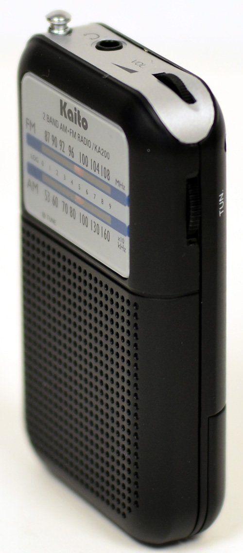 Kaito KA200 Pocket AM//FM Radio Black
