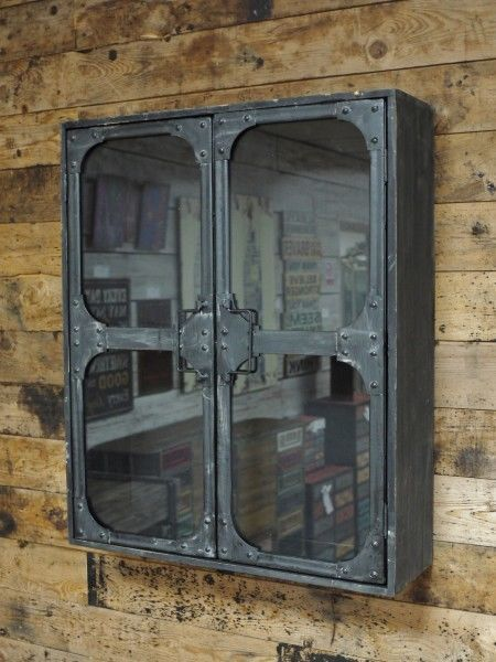 This Metal With Glass Door Industrial Cabinet Would Look Perfect Anywhere  In The Home. Industrial