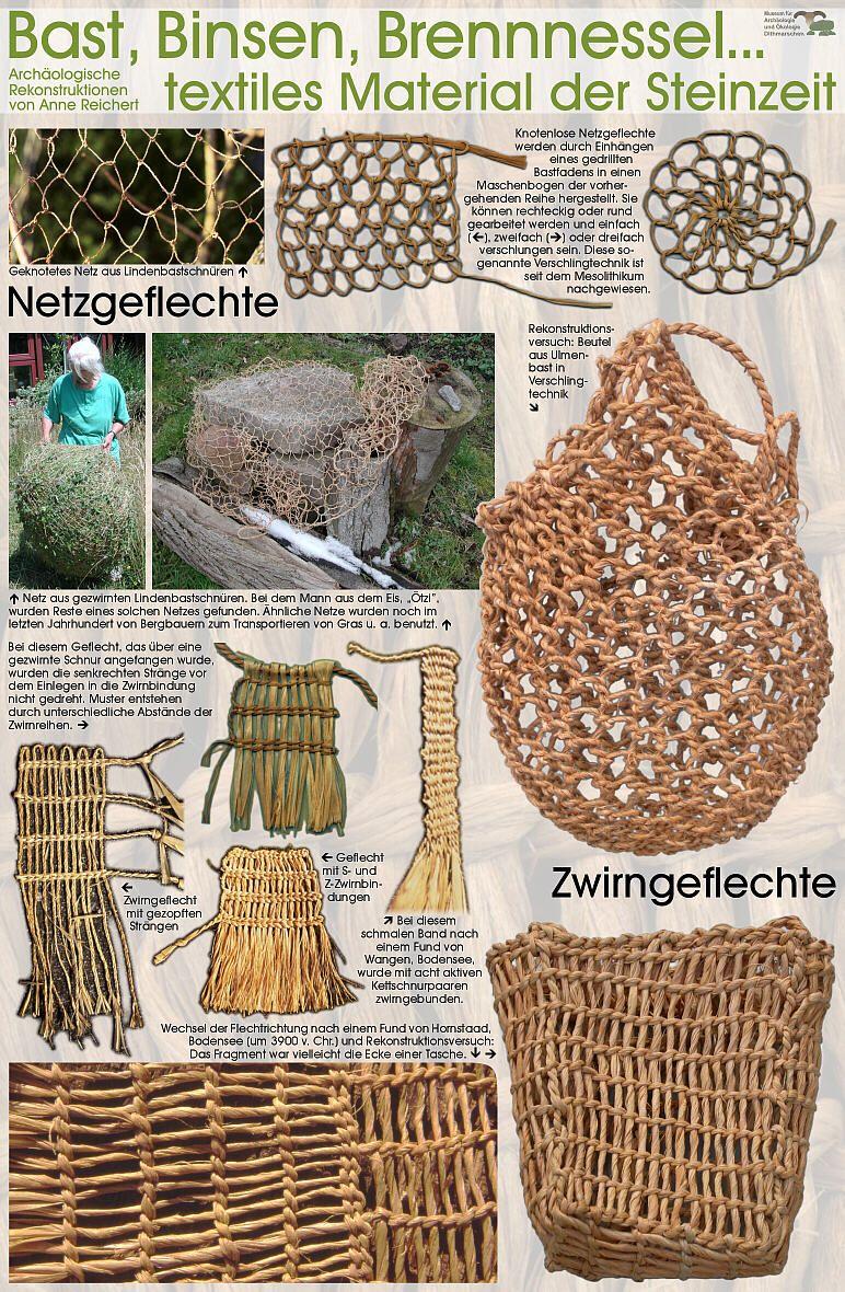 Textiles Material Der Steinzeit Handwerk