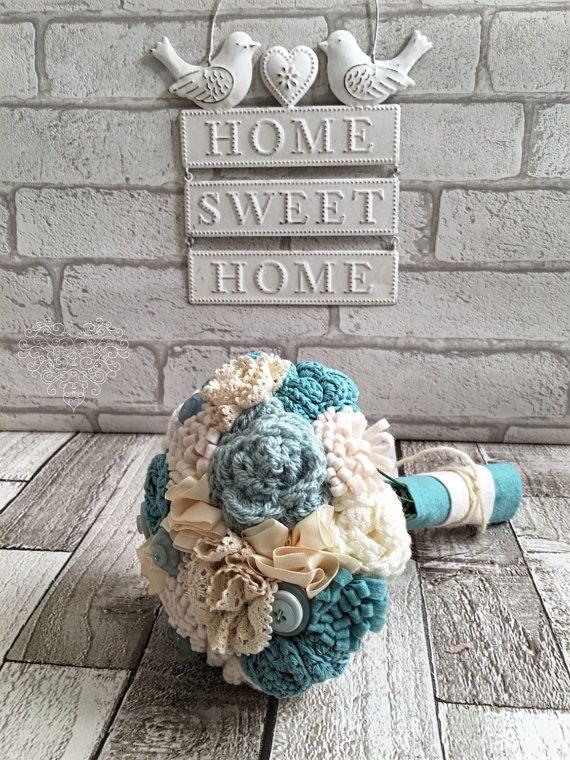 Alternative bouquet bridesmaids bouquet crochet by TinyandToad                                                                                                                                                                                 More