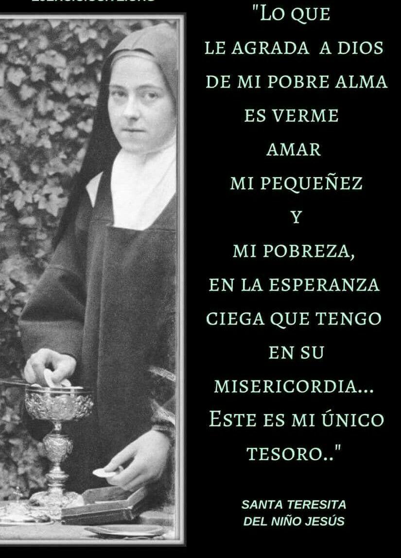 Pin De María Elena Martínez Salas En Santa Teresita Del Niño Jesús Frases De Santos Teresita Del Niño Jesus Santa Teresita Del Niño Jesus
