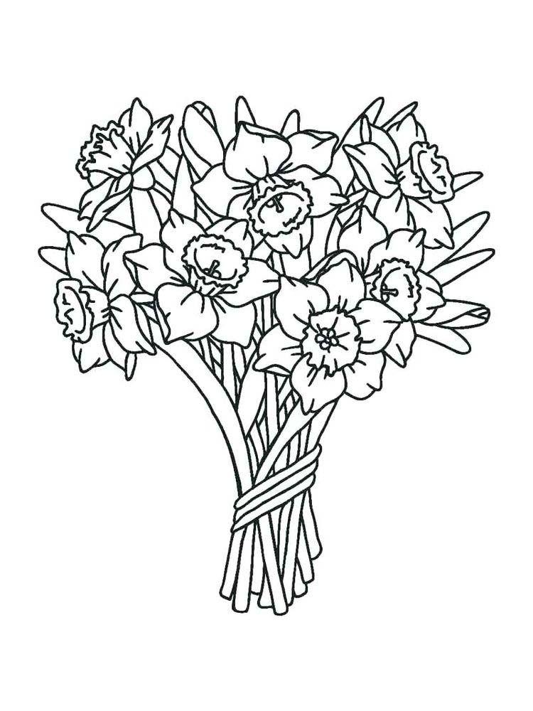 November Flower Coloring Pages Design