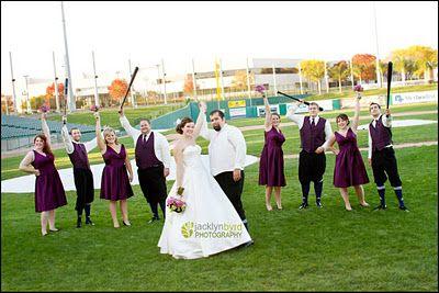 baseball wedding