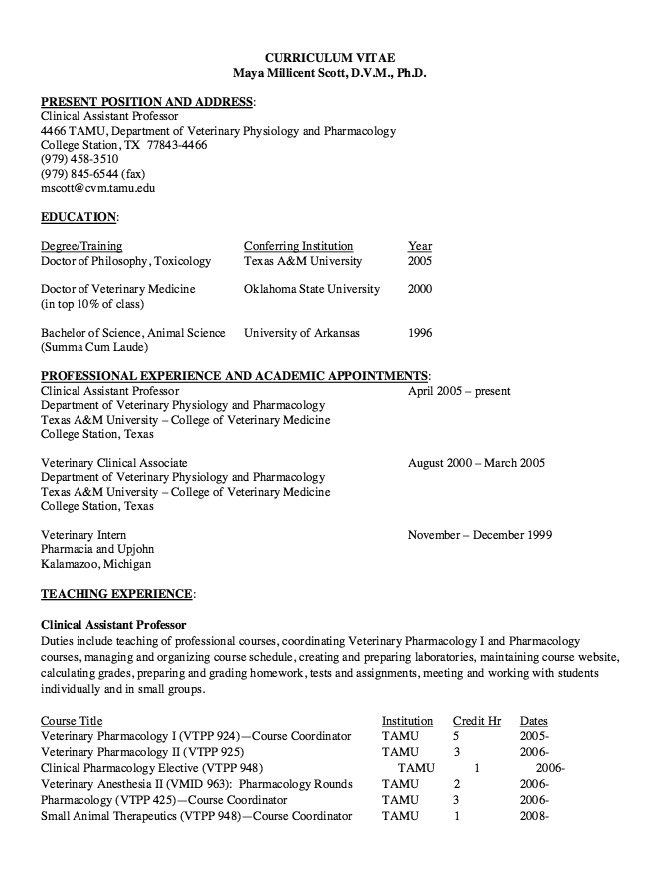 Veterinary Resume Vet Tech Resumes  Httpresumesdesignvettechresumes