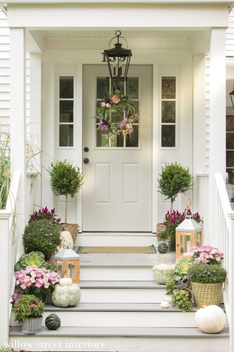 47 Fancy Farmhouse Fall Porch Decor And Design Ideas images