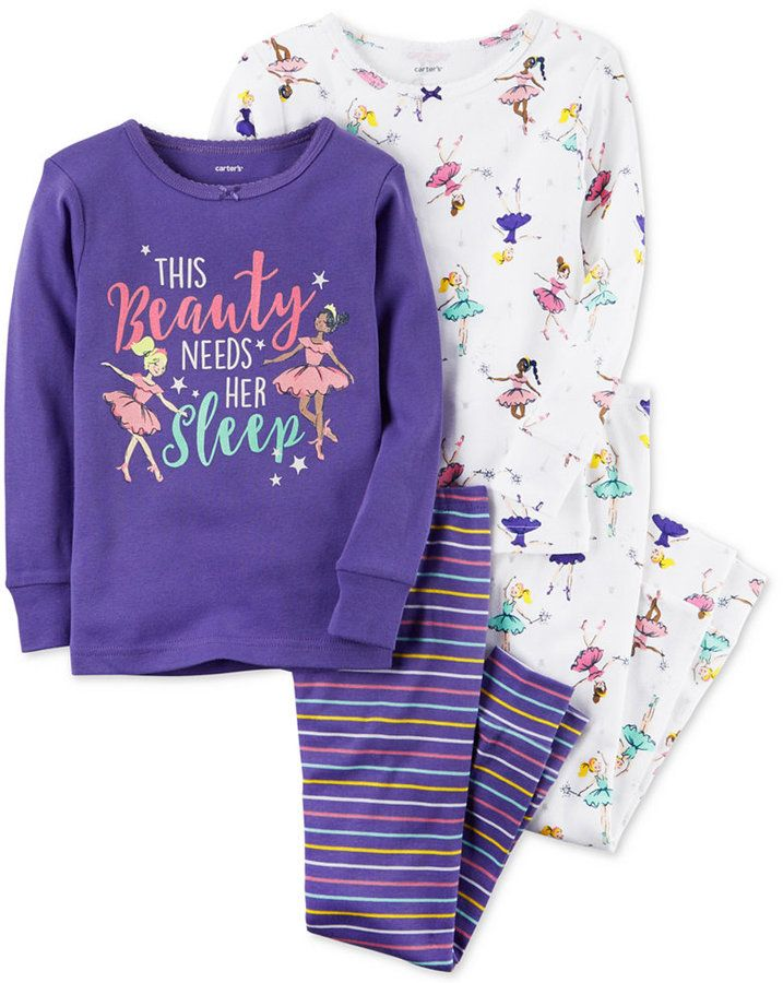 618340b09 Carter s 4-Pc. Beauty Needs Her Sleep Cotton Pajama Set