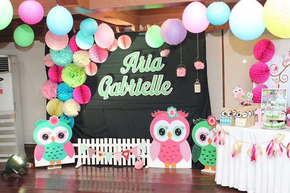 Owl Birthday Party Ideas  Photo 6 of 6  Owl themed birthday