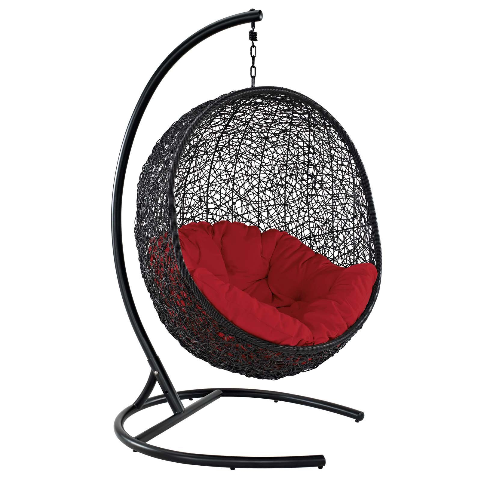 Fine Outdoor Modway Encase Swing Patio Lounge Woven Hanging Chair Bralicious Painted Fabric Chair Ideas Braliciousco