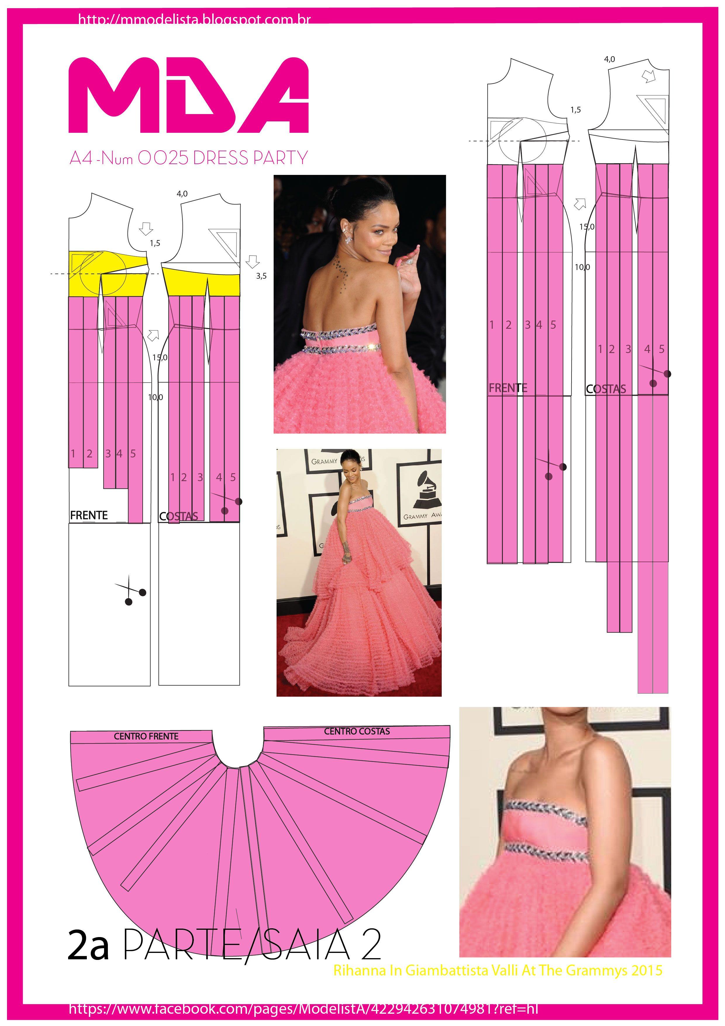 Vestidos | выкройки | Pinterest | Molde, Patrones y Patrones de vestidos
