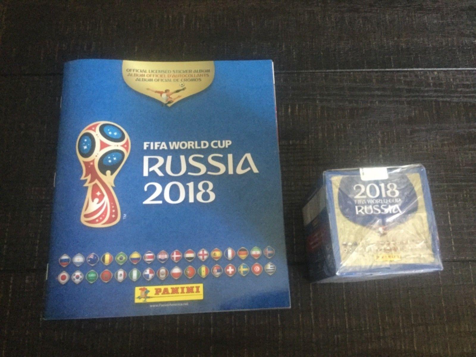 00d86e51b 2018 Panini Russia FIFA World Cup Soccer Sticker Bundle w/ 50 Pack Box  Discount Price