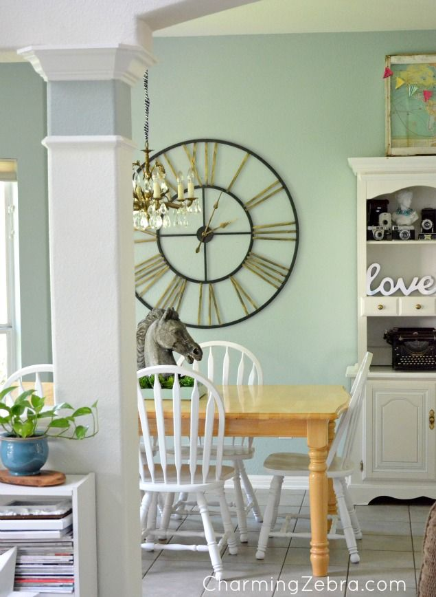 Kitchen large clock. CharmingZebra.com