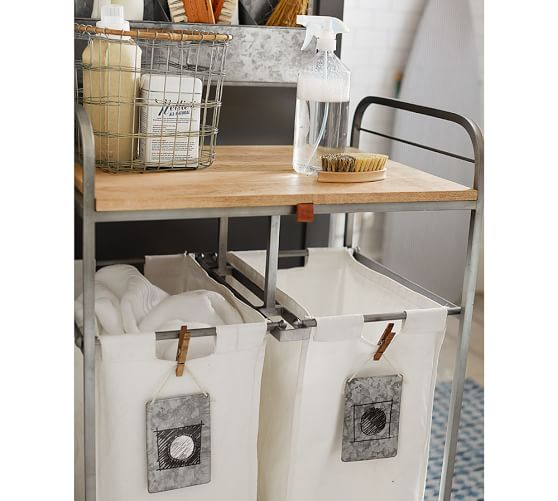 Galvanized Rolling Cart In 2020 Drying Rack Laundry Laundry
