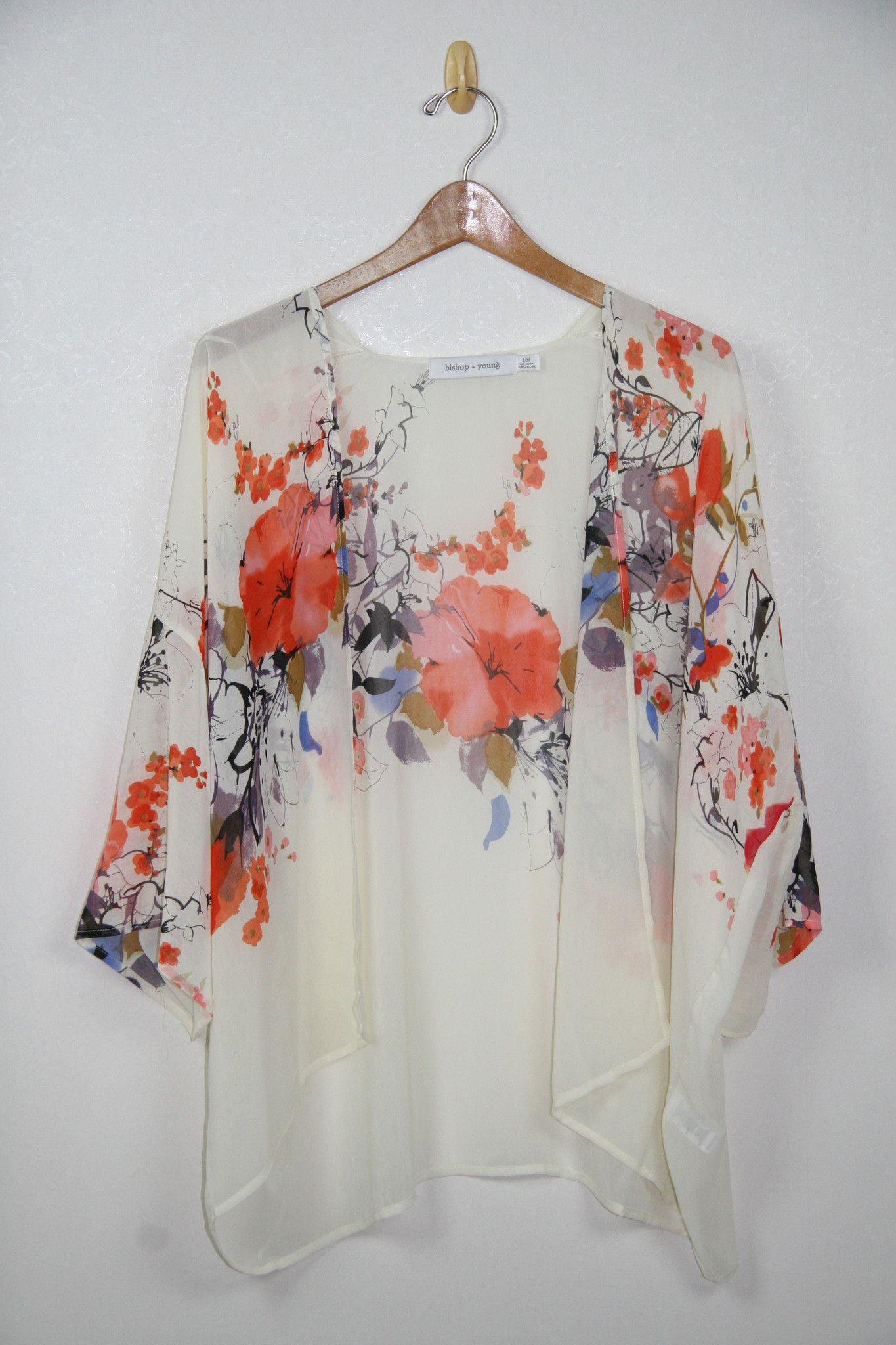 Since I Love The Kimono Style Dresses I Ve Seen On: Bishop + Young Floral Shawl Flin Kimono. I Love This