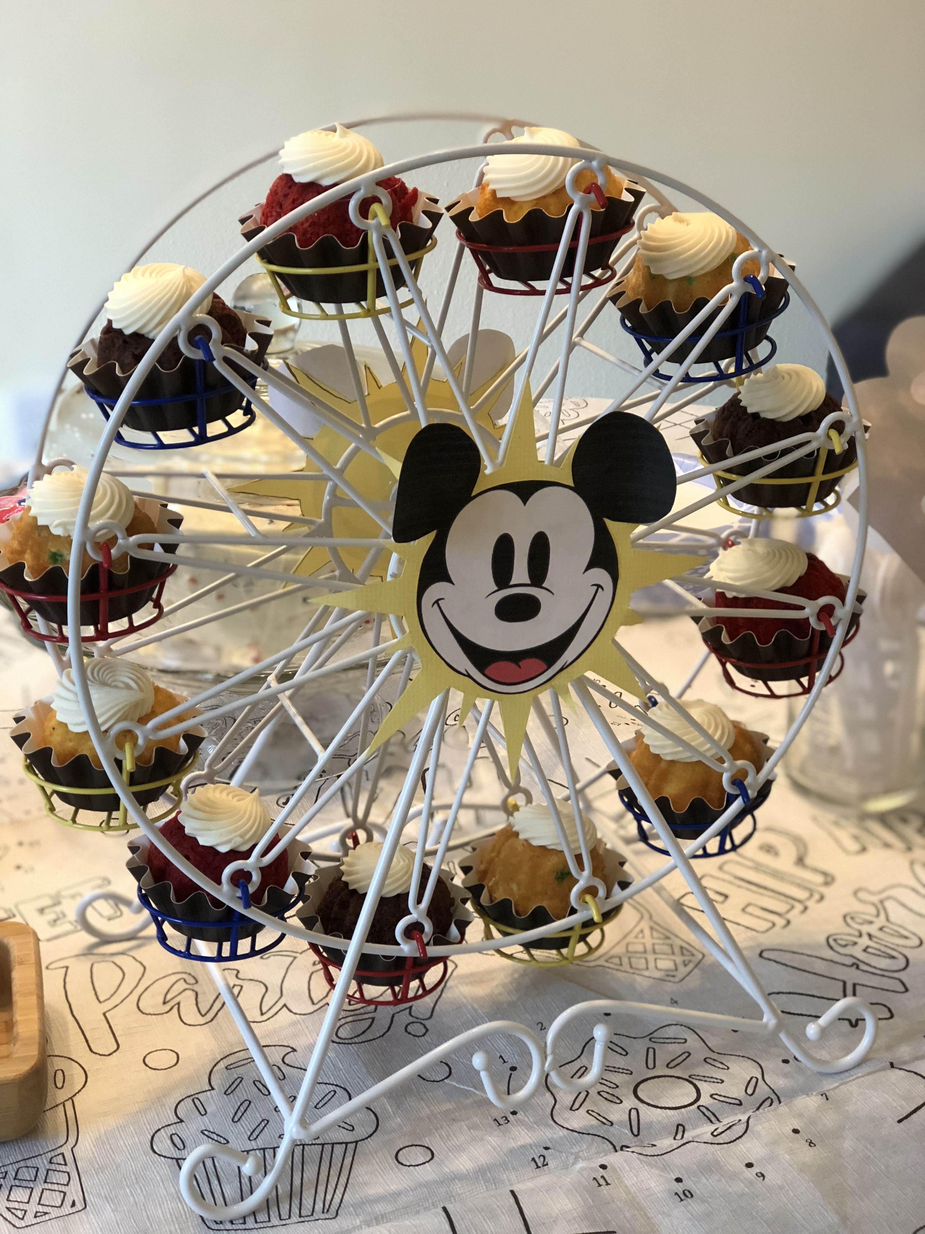 Ferris Wheel Cupcake Candle Holder Mickey Head Added To Look Like California Adventure Perfect For Any Ferris Wheel Cupcake Holder Cupcake Candle Craft Time