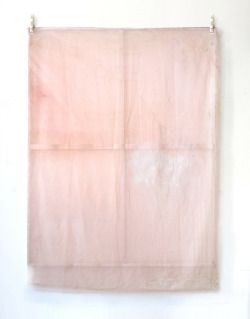"ladyburde: "" Jeremy Everett, 'Proof - Pink,' 2014, Ink, spray paint on silk, Edouard Malingue Gallery """