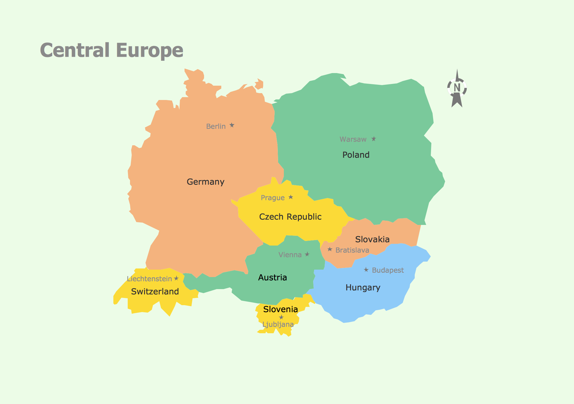 Geo Map Central Europe | Central Europe | Pinterest | Central europe