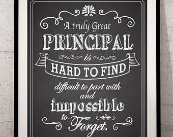 Principal Gift A Truly Great Principal Art Print Gift For