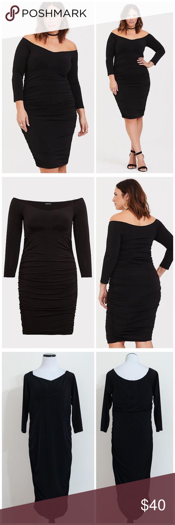 Torrid Black Ruched Studio Knit Bodycon Dress 2x Knitted Bodycon Dress Stretchy Bodycon Dress Dresses 2x [ 1740 x 580 Pixel ]